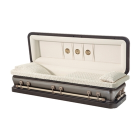 Golden granite 18-gauge steel casket