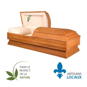 Solid maple casket