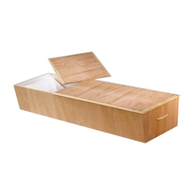 Cherry wood finish cremation casket