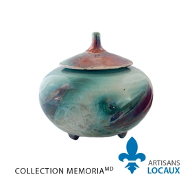 Double urn with glaze finish (conical lid)