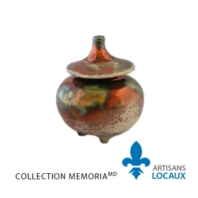 Glazed keepsake urn (Pointed top)