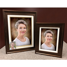 Photo on canvass with frame
