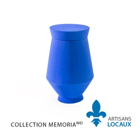 Blue ceramic urn with lid 1.