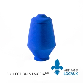 Blue ceramic urn with lid 2.