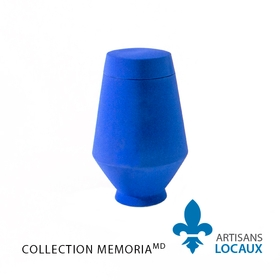 Blue ceramic urn with lid 3.