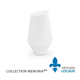 White ceramic keepsake urn