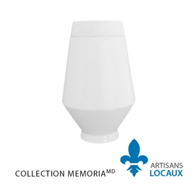 White ceramic urn with lid 3.
