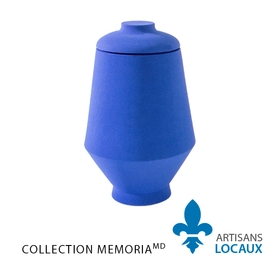 Blue large format ceramic urn with lid 2.