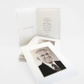 Handmade paper cards with mounted photo
