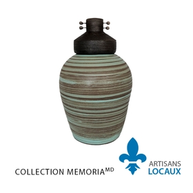 Ceramic Blue Halo Urn