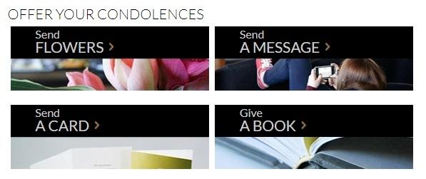 offer condolences